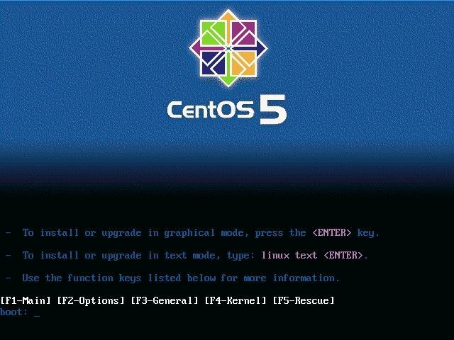 centos52 install 1